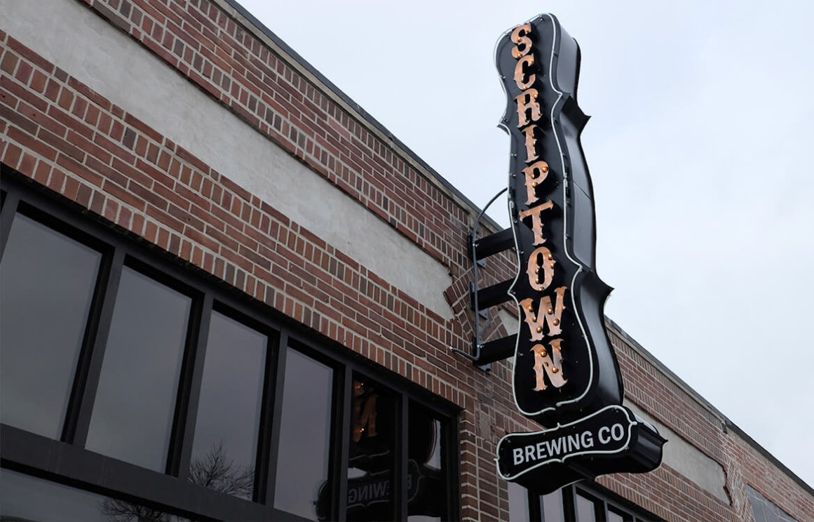 Scriptown Omaha Bar Construction Signage